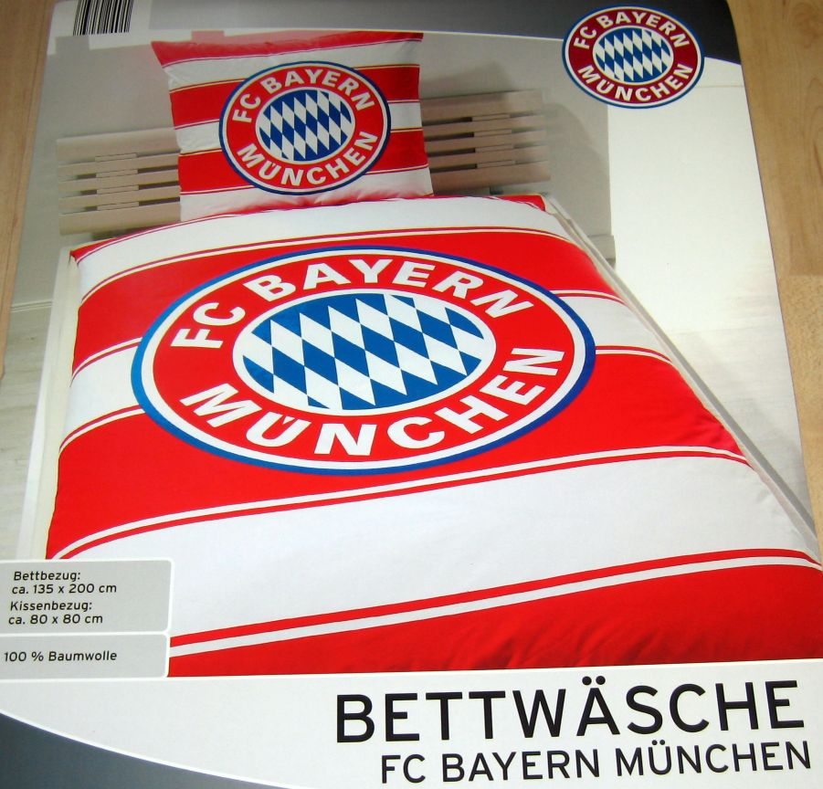 hochwertige fc bayern m nchen bettw sche 100 baumwolle. Black Bedroom Furniture Sets. Home Design Ideas