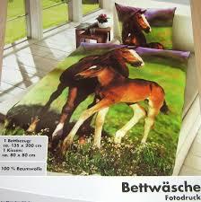 fotodruck bettw sche pferd fohlen 135 x 200 cm baumwolle pferde foto motiv neu ebay. Black Bedroom Furniture Sets. Home Design Ideas