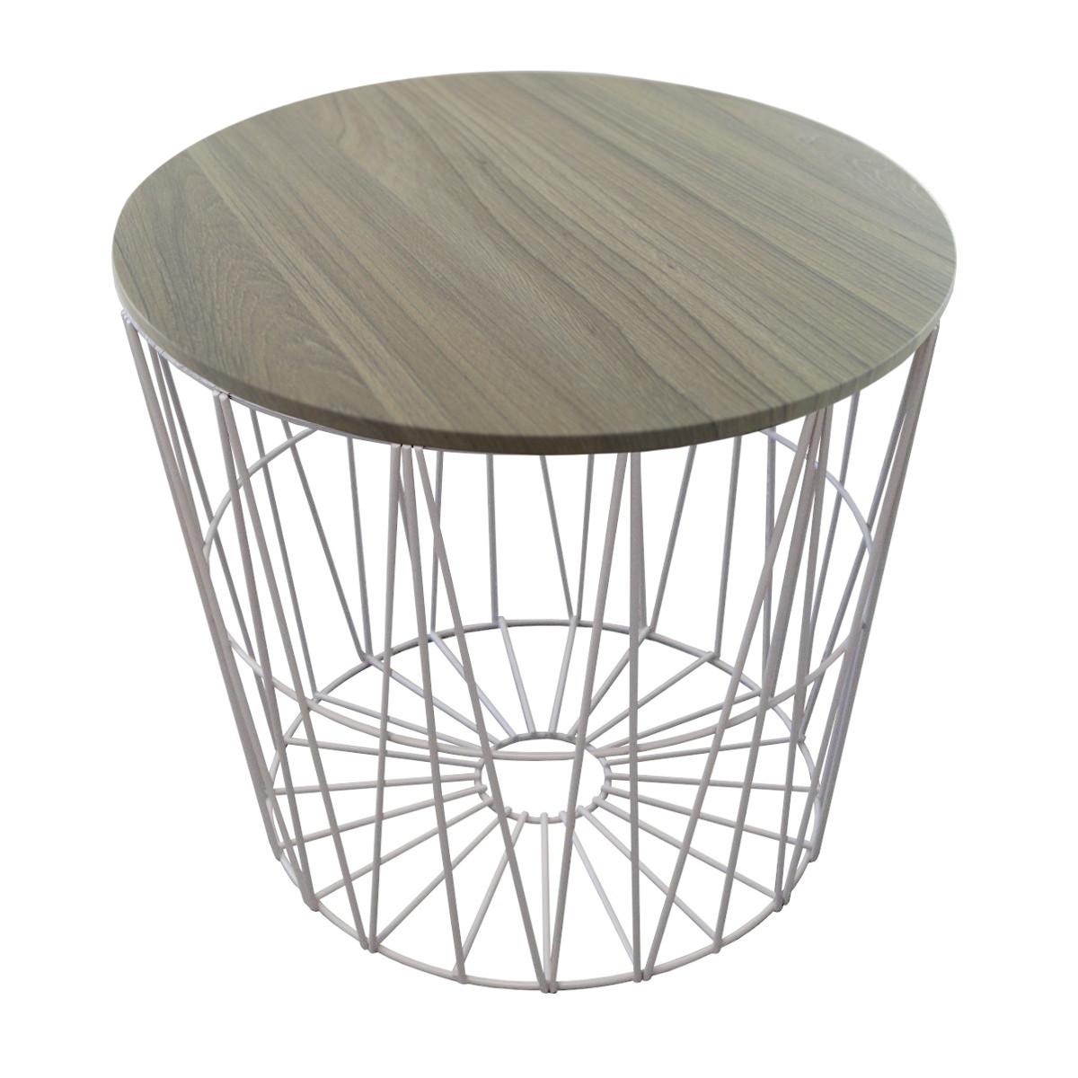 design drahtk rbe in 4 gr en drahtkorb tisch korb mit deckel grau ebay. Black Bedroom Furniture Sets. Home Design Ideas