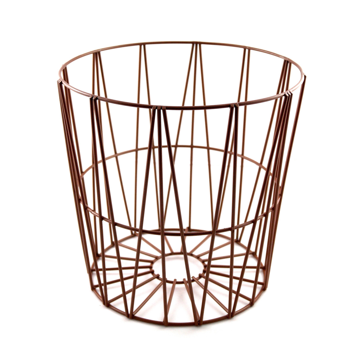 design drahtk rbe in 4 gr en drahtkorb tisch korb mit deckel braun ebay. Black Bedroom Furniture Sets. Home Design Ideas