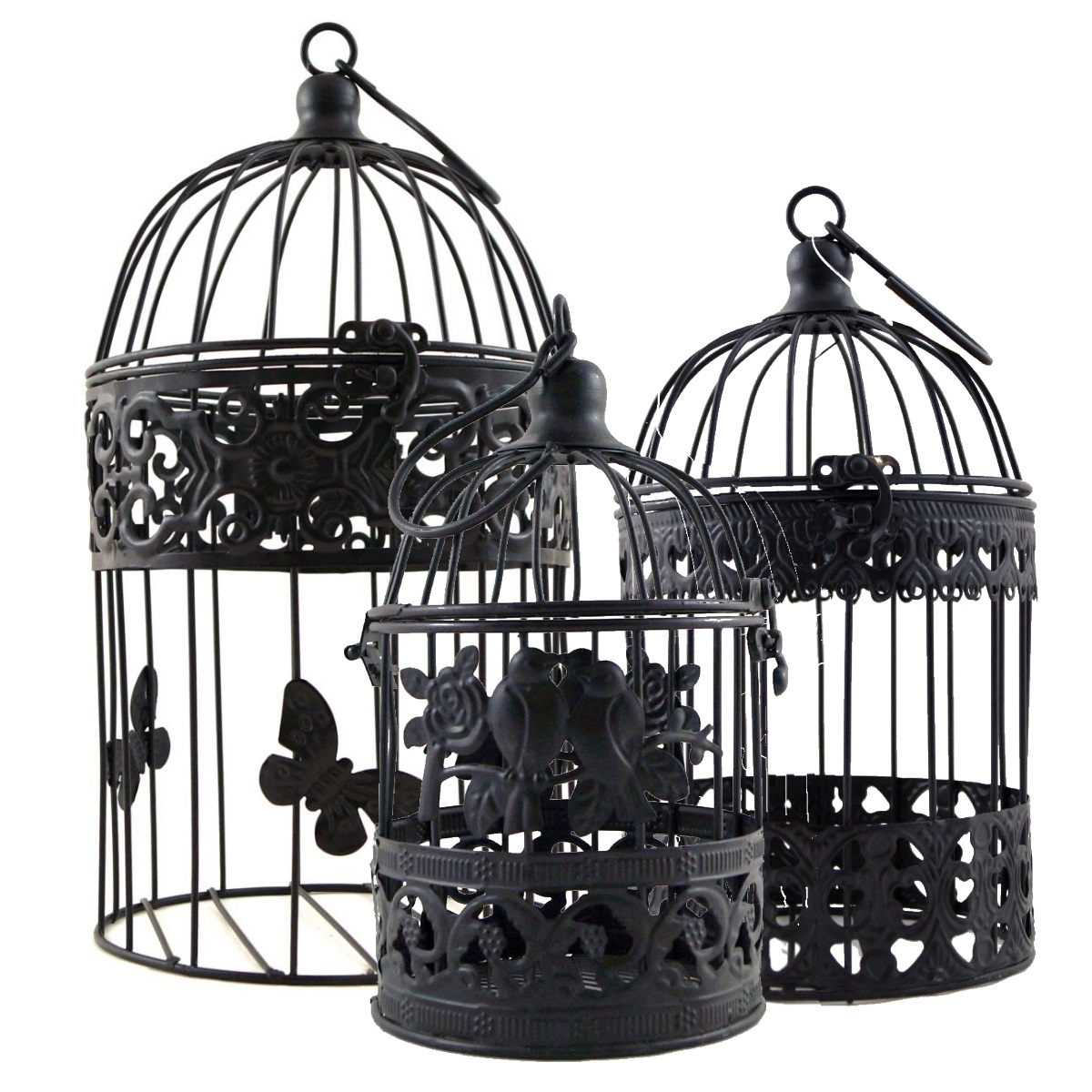 Vogelk fig aus metall deko vogelk fig shabby look grau Deko aus metall