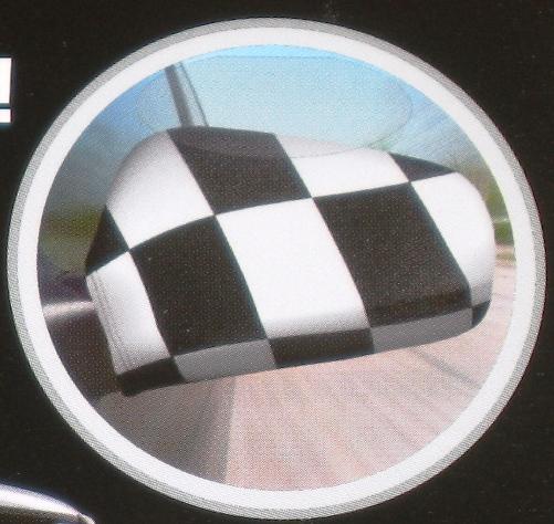 Mflax autobikini racing schwarz weiss aussenspiegel fahne for Spiegel und fahne