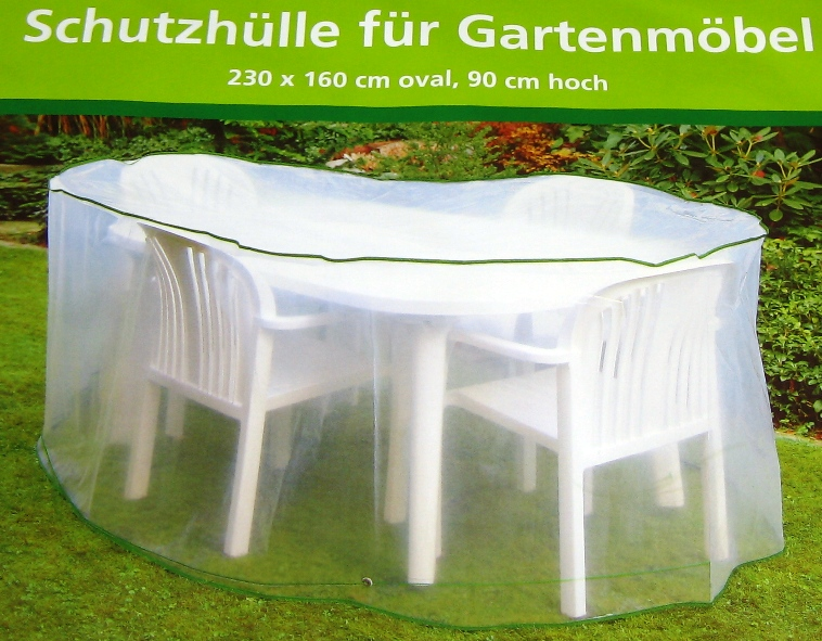 schutzh lle f r gartenm bel 230 x 160 x 90 cm oval abdeckplane gartenm belh lle ebay. Black Bedroom Furniture Sets. Home Design Ideas