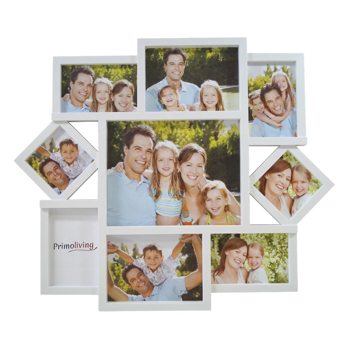bildergalerie fotogalerie fotorahmen bilderrahmen collage family love herz wei ebay. Black Bedroom Furniture Sets. Home Design Ideas