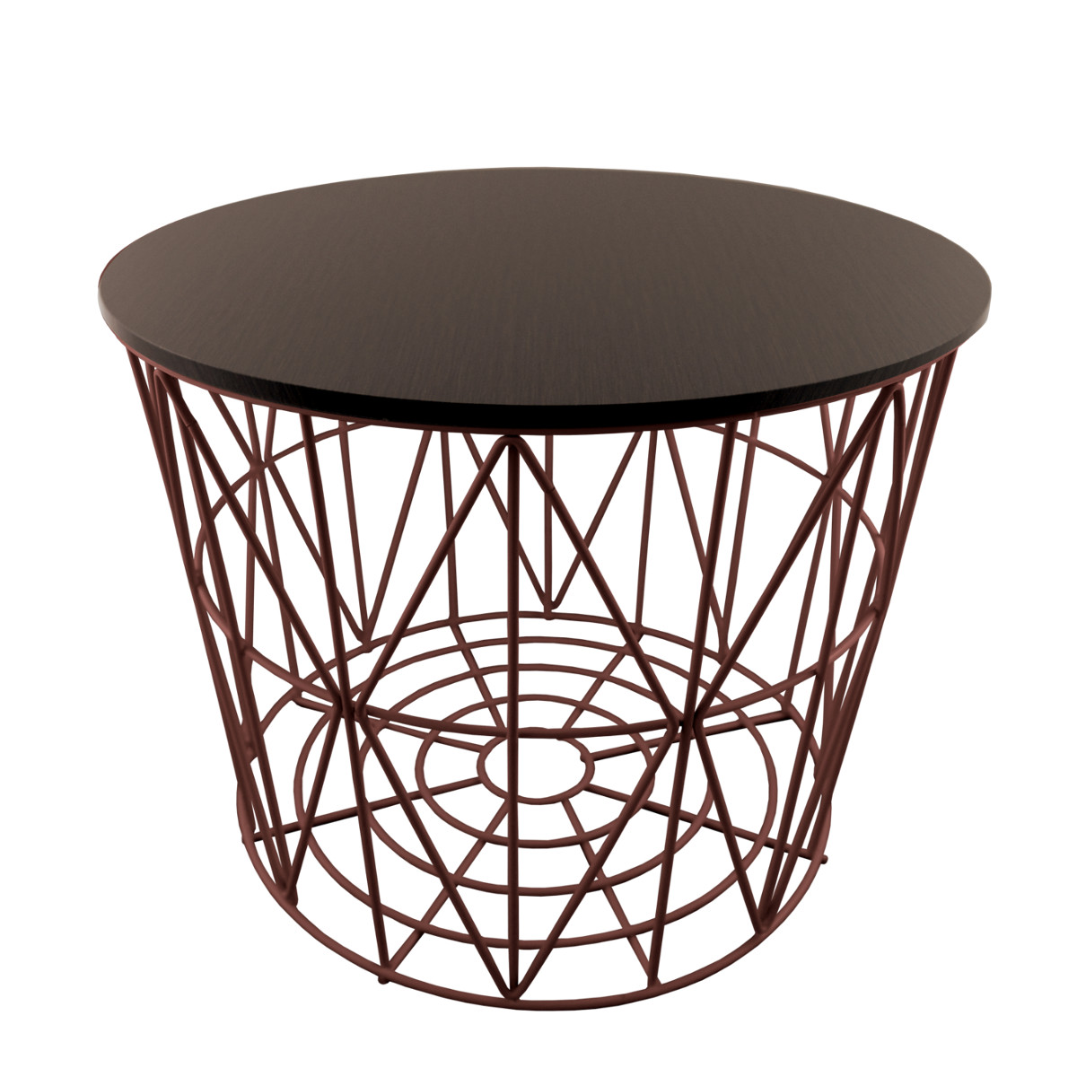 primoliving design drahtk rbe in 4 gr en drahtkorb tisch korb mit deckel braun ebay. Black Bedroom Furniture Sets. Home Design Ideas